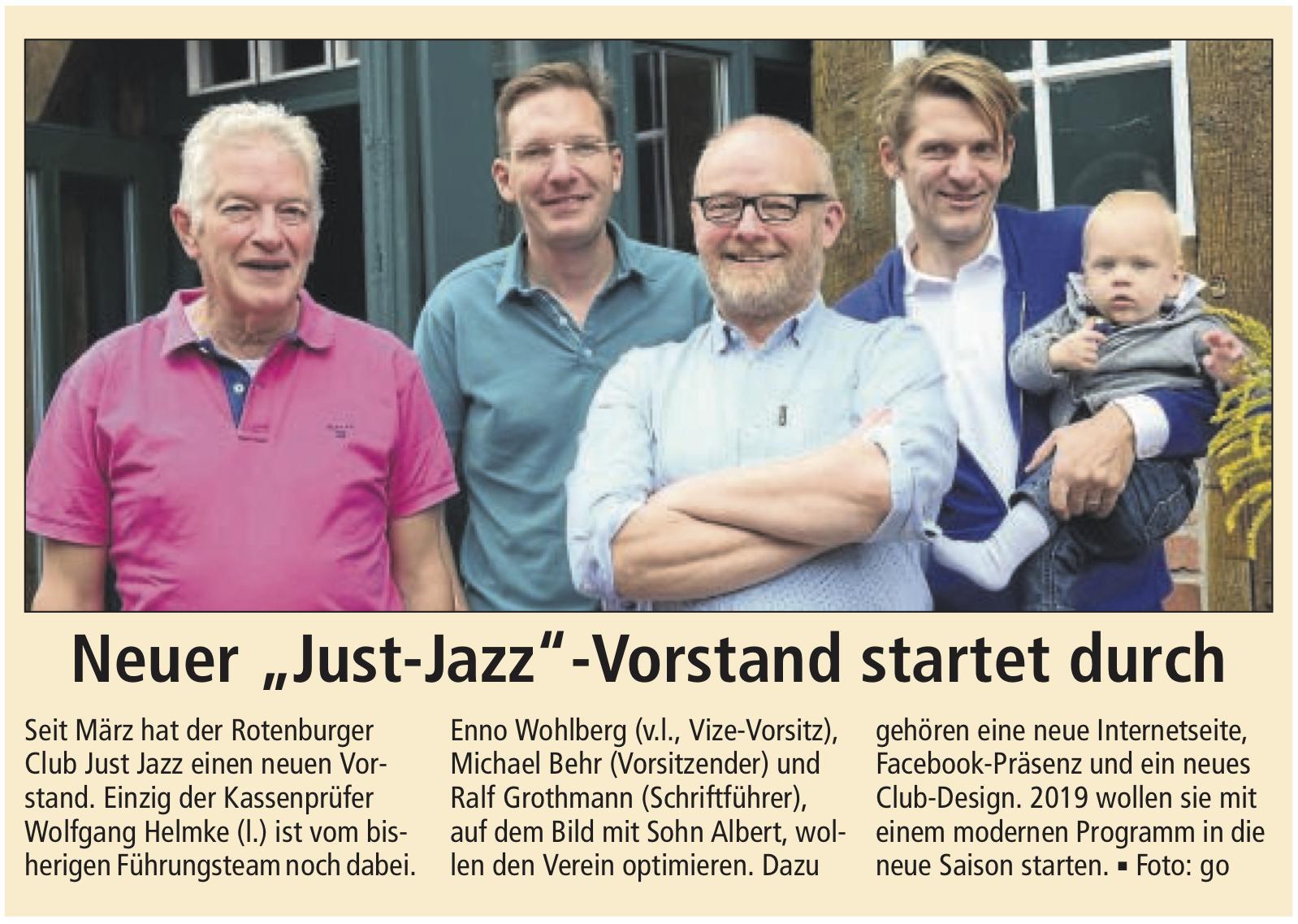 Rotenburger Kreiszeitung Vom 21.8.2018 - Der Neue Vorstand